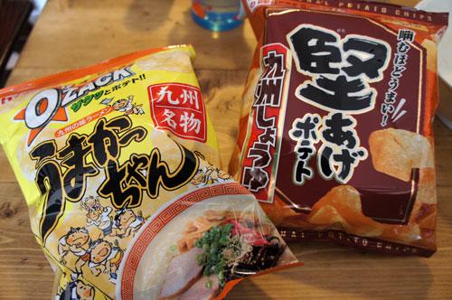 オーザックうまかっちゃん味 堅あげポテト九州しょうゆ味