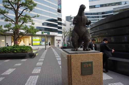 日比谷 ゴジラの銅像